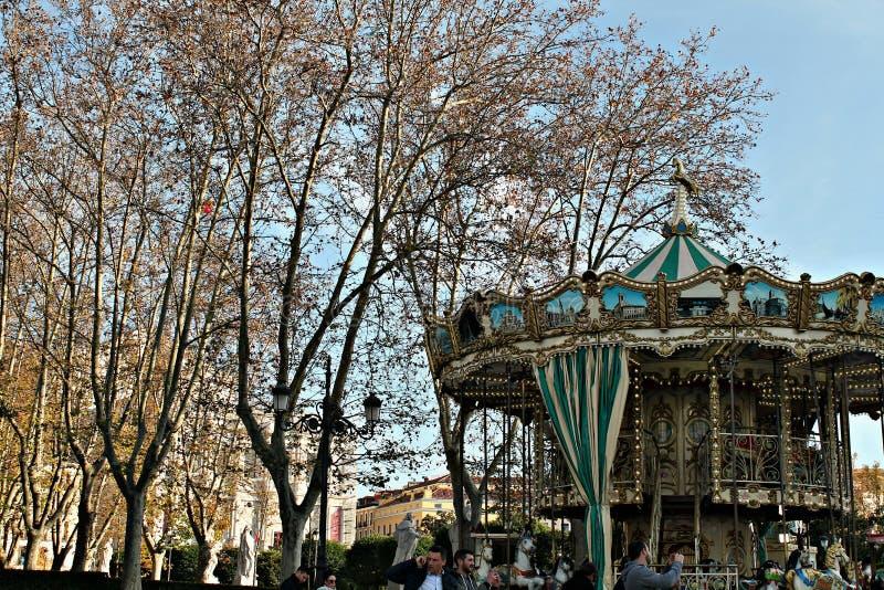 Automne à Madrid image libre de droits