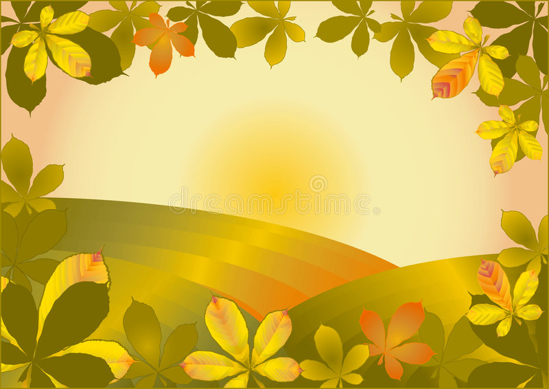 Automne d'or illustration stock
