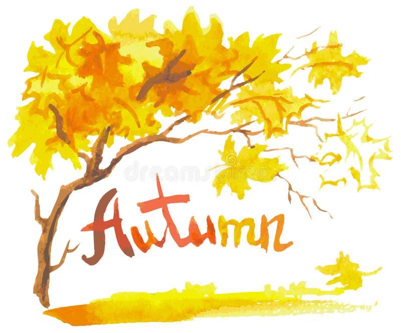 Automne d'aquarelle illustration stock