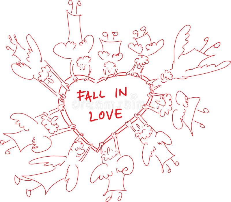 Automne dans l'amour Angeles image stock