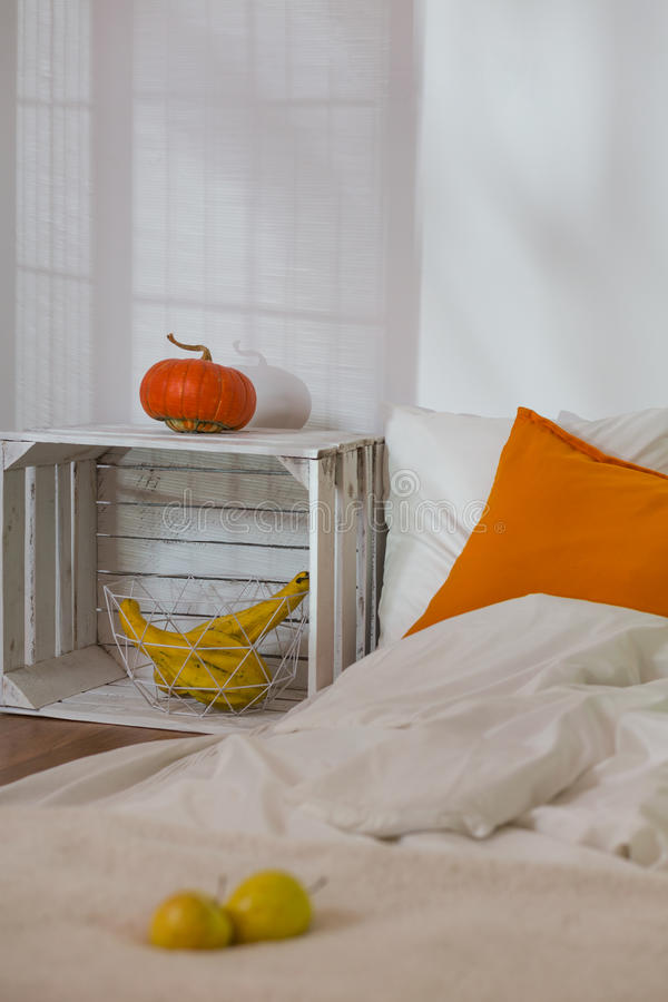 Automne dans la chambre à coucher simple photographie stock