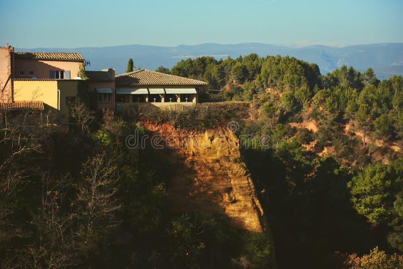 Automne dans le Comté de Roussillon photo stock