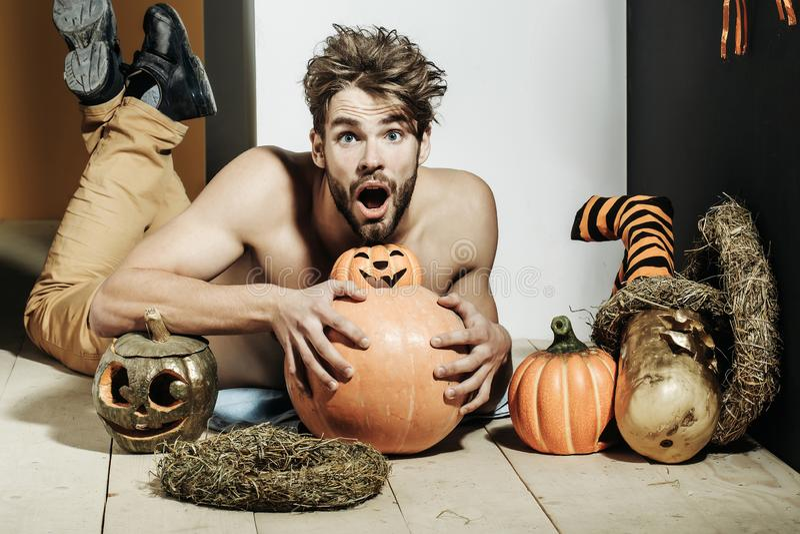 Automne de Halloween et saison de récolte photos libres de droits