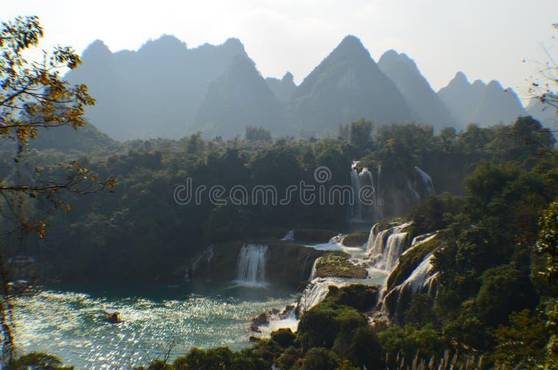 Automne de l'eau de Detian image stock