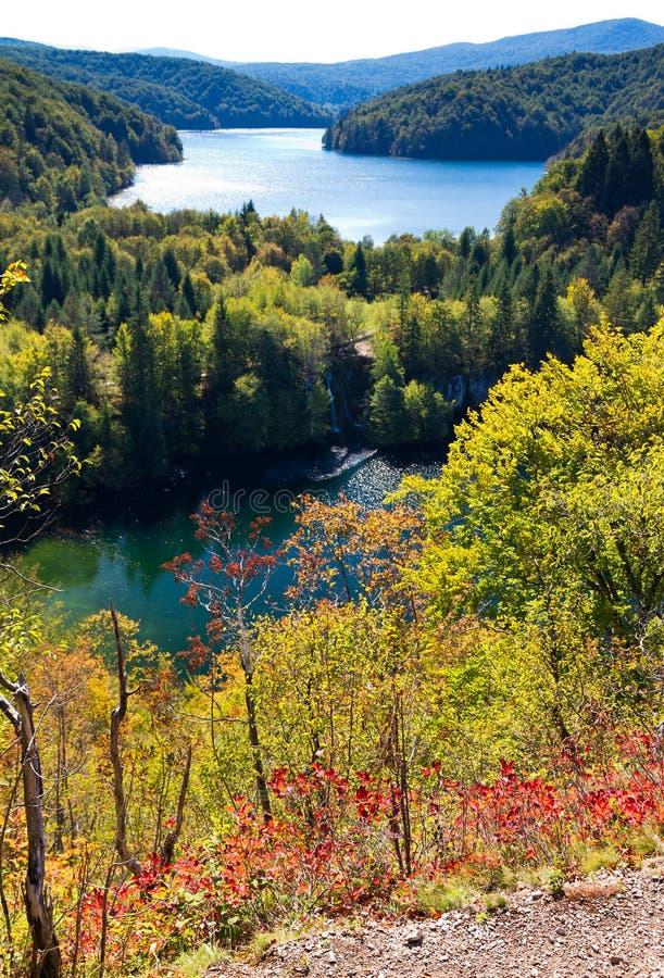 Automne de Plitvice photo stock