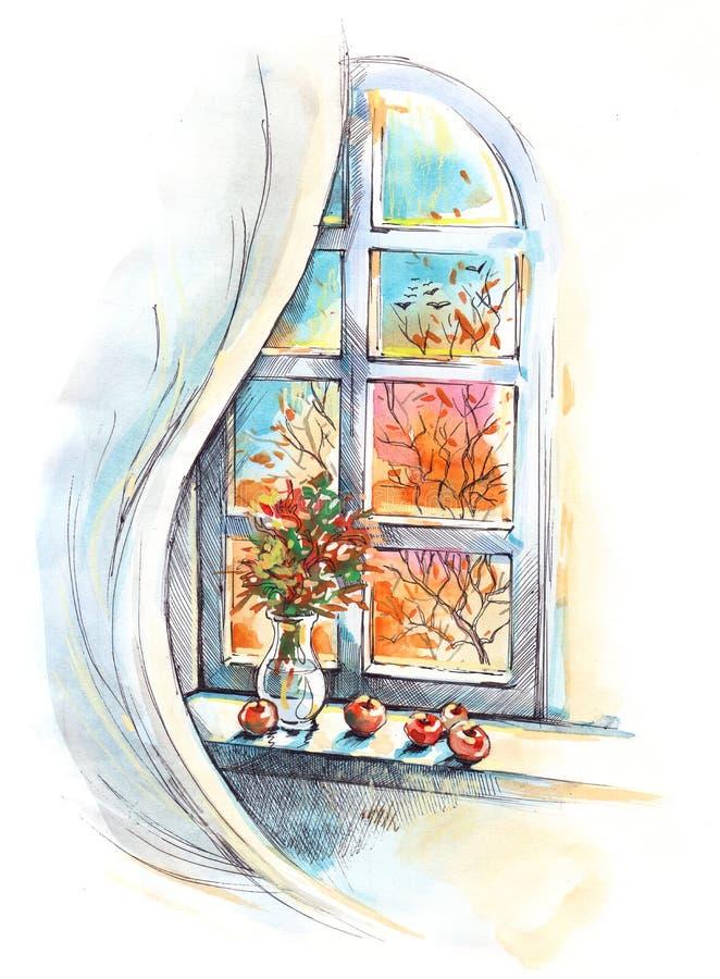 Automne de saisons illustration de vecteur
