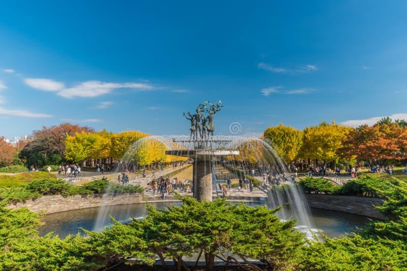 Automne en parc commémoratif de Showa, Tachikawa, Japon photo libre de droits