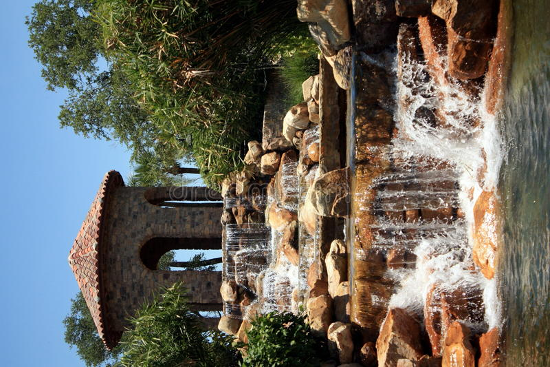 Automne tropical de l'eau photo libre de droits