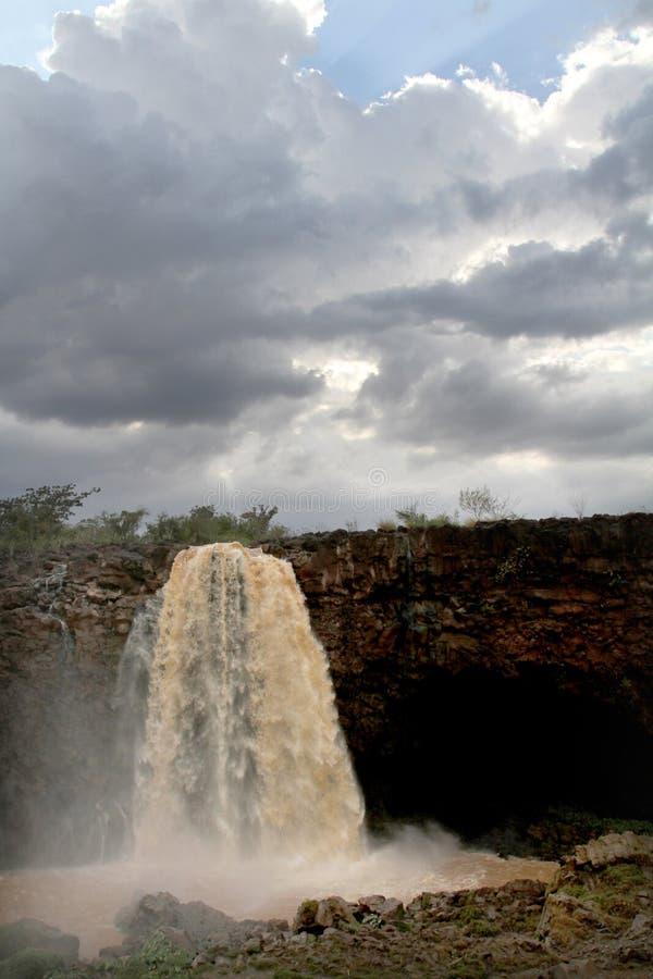 Automnes abay de Tiss sur le Nil bleu, Ethiopie images stock