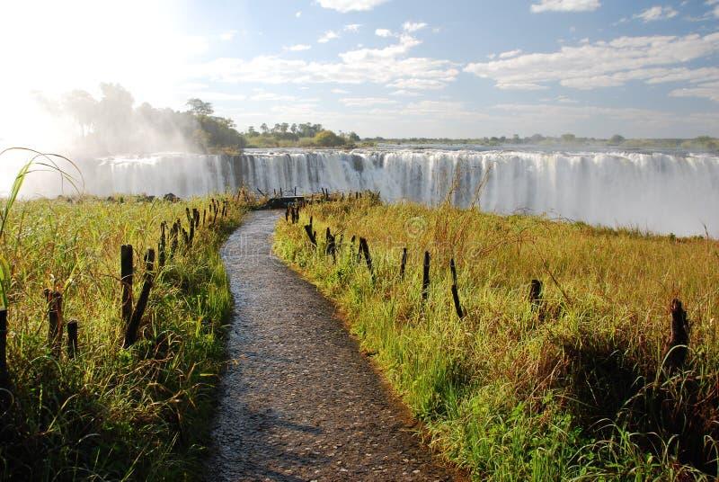 Automnes d'arc-en-ciel, Victoria Falls, Zimbabwe photographie stock libre de droits