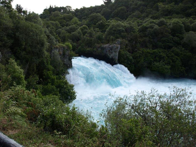 Automnes de Huka, île du nord, Taupo, Nouvelle-Zélande image libre de droits