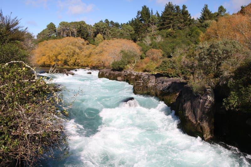 Automnes de Huka, Nouvelle Zélande photo stock