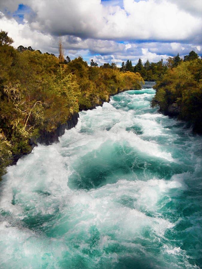 Automnes de Huka, station de vacances Taupo, Nouvelle-Zélande images libres de droits