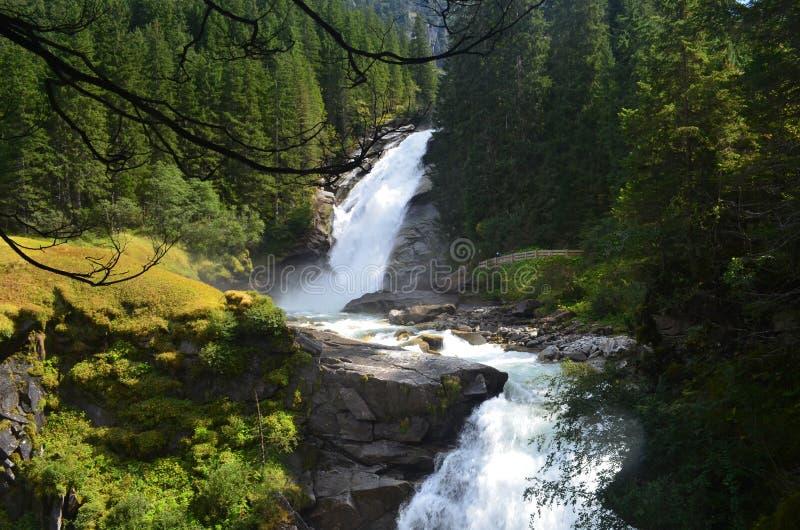 Automnes de l'Autriche Krimml/Krimmler Wasserfälle image libre de droits