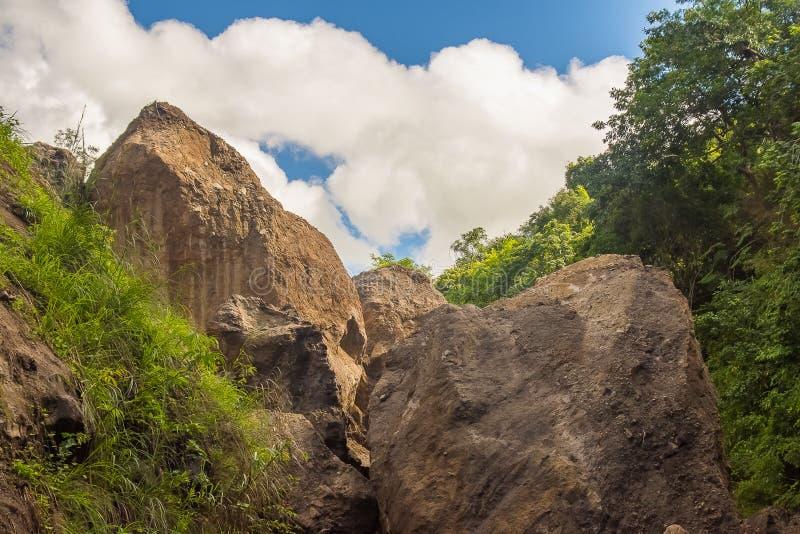 Automnes de Patal, début de rivière de Sapang photos stock