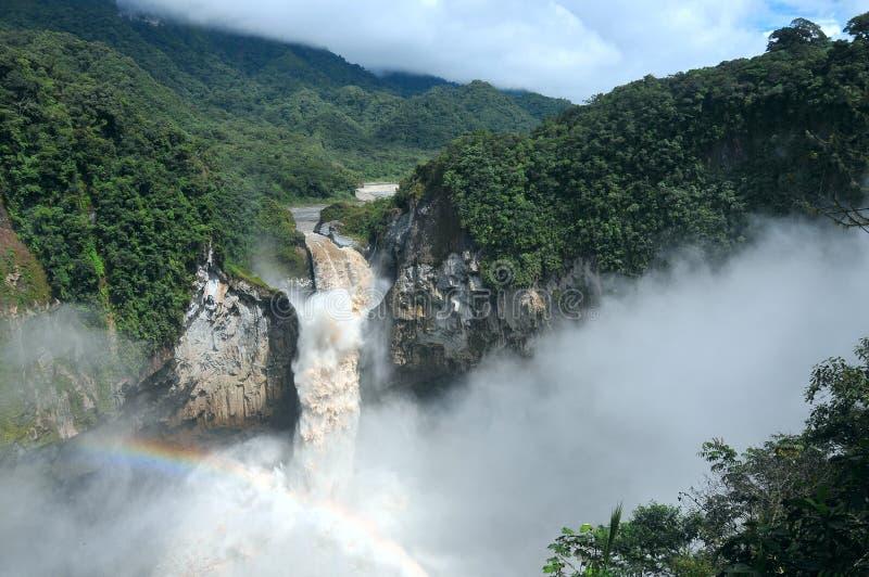 Automnes de San Rafael La plus grande cascade en Equateur photographie stock