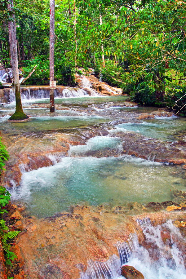 Automnes du fleuve de Dunn, Ocho Rios, Jamaïque photographie stock