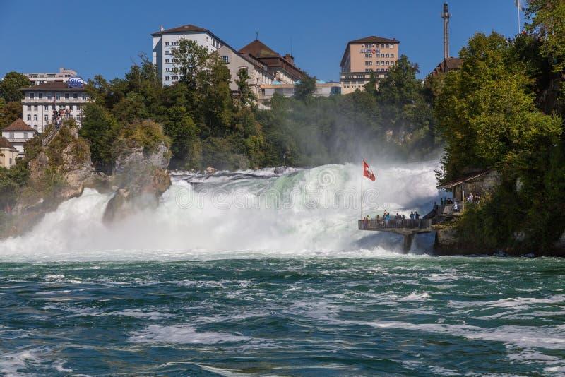 Automnes du Rhin, Suisse image stock