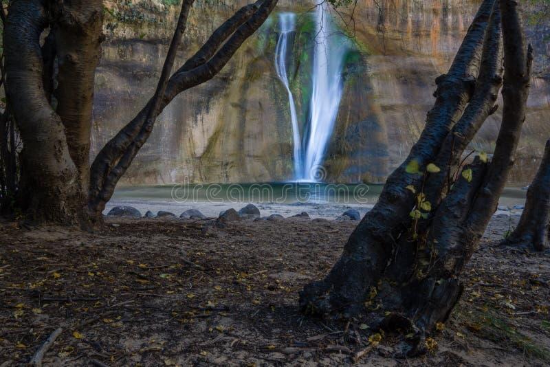 Automnes inférieurs de crique de veau - Utah photographie stock libre de droits