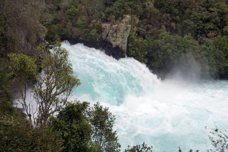 Automnes puissants de Huka près de lac Taupo, Ner la Zélande images libres de droits