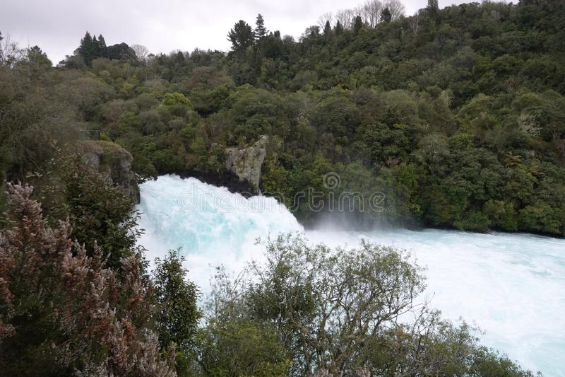 Automnes puissants de Huka près de lac Taupo, Ner la Zélande photos libres de droits