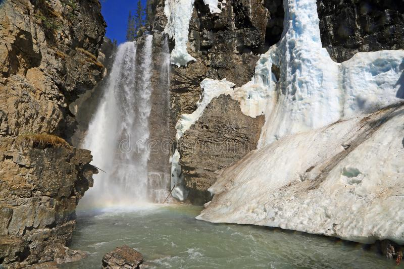 Automnes sup?rieurs de Johnston Canyon photo stock