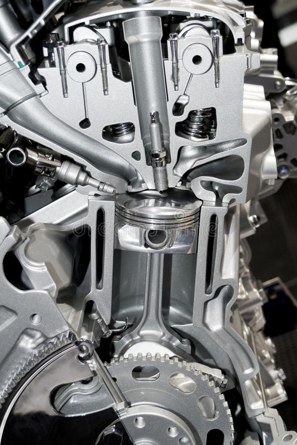 Automobiel cilinderblok royalty-vrije stock foto's