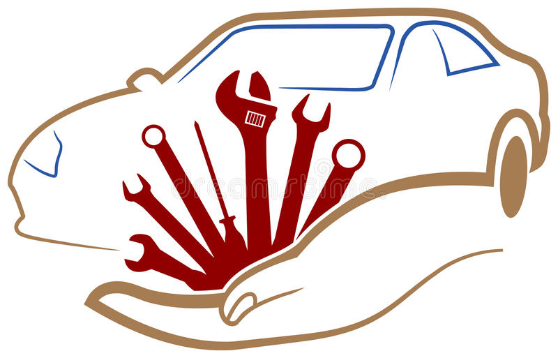 Automobiel workshopembleem vector illustratie