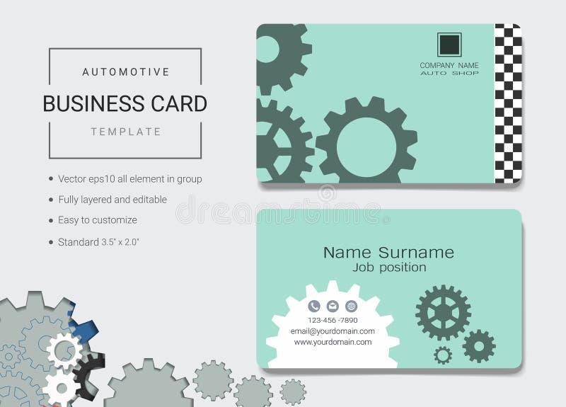 Automobieladreskaartje of van de naamkaart malplaatje royalty-vrije illustratie