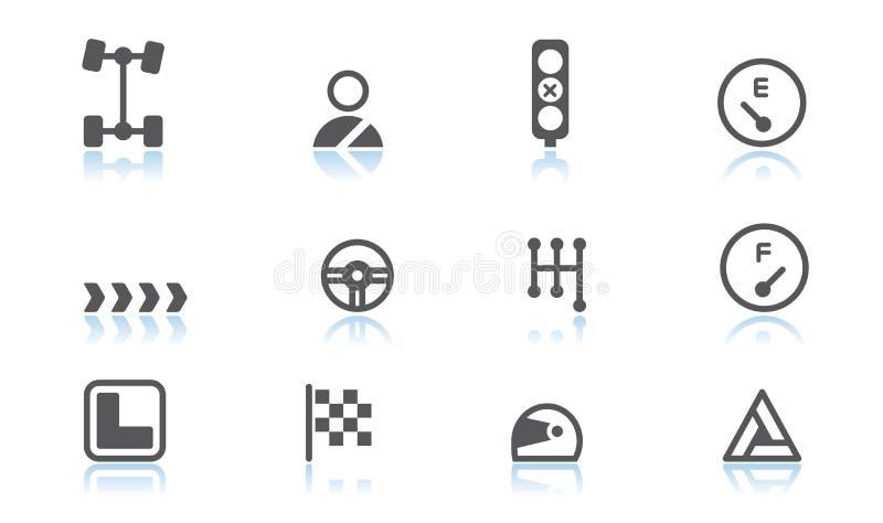 Automobiele pictogrammen vector illustratie