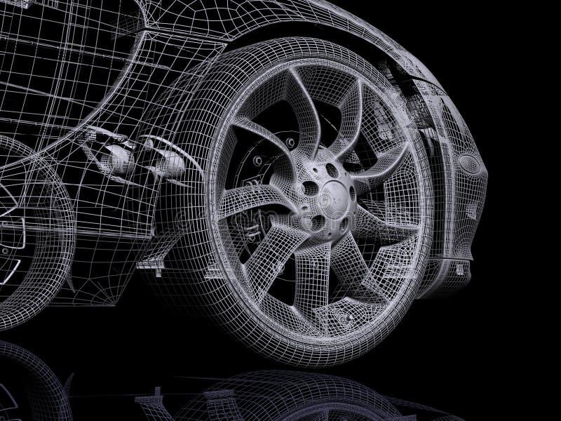 Automobil 3d lizenzfreie abbildung