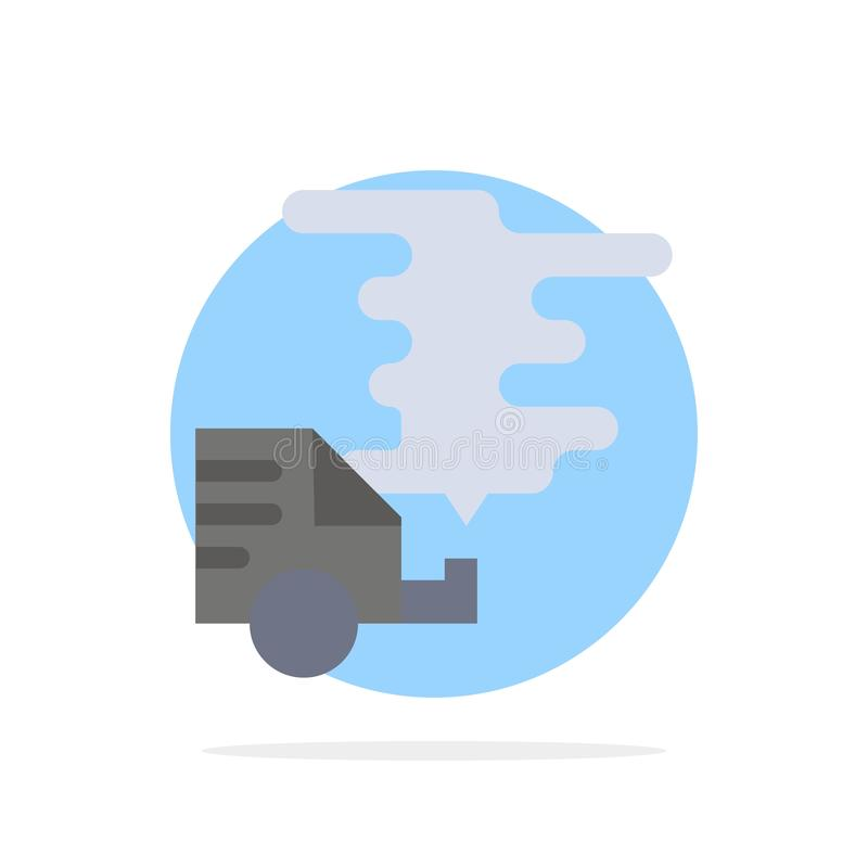 Automobil, Auto, Emission, Gas, flache Ikone Farbe Verschmutzungs-des abstrakten Kreis-Hintergrundes stock abbildung