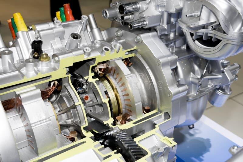 Automobil-elektrischer Motor lizenzfreie stockbilder