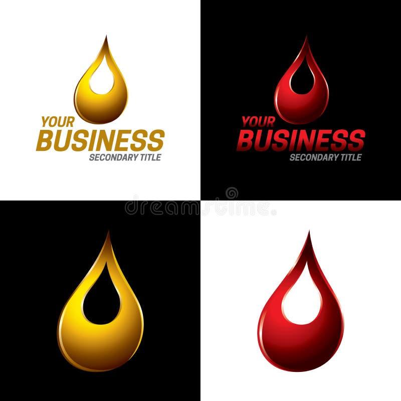 Automobil- und industrielle Schmiermittel-Ikone und Logo - Vektor Illustrati lizenzfreie abbildung