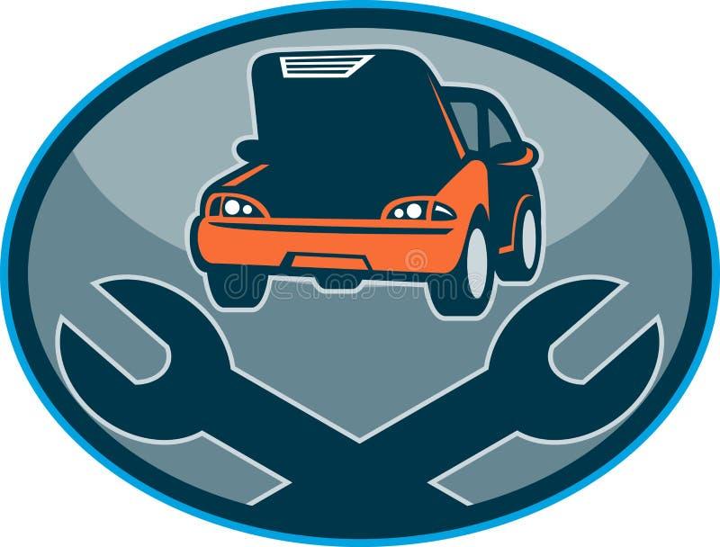 Automobilauto-Zusammenbruchreparatur vektor abbildung
