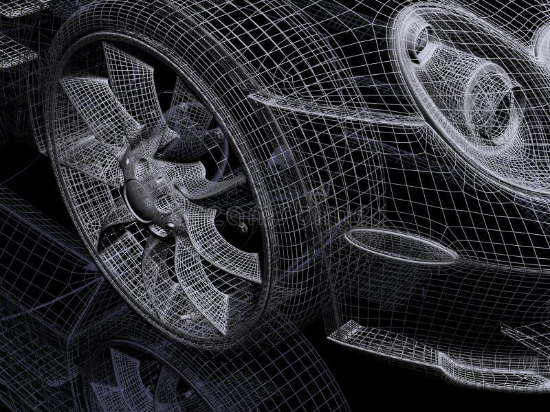 automobile 3d illustration libre de droits