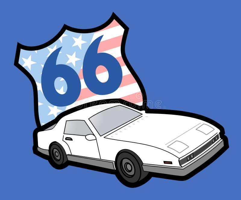 Automobile 66 royalty illustrazione gratis