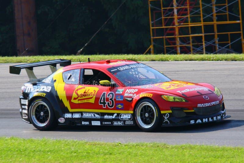 Automobile acing di Mazda RX-8 fotografie stock libere da diritti