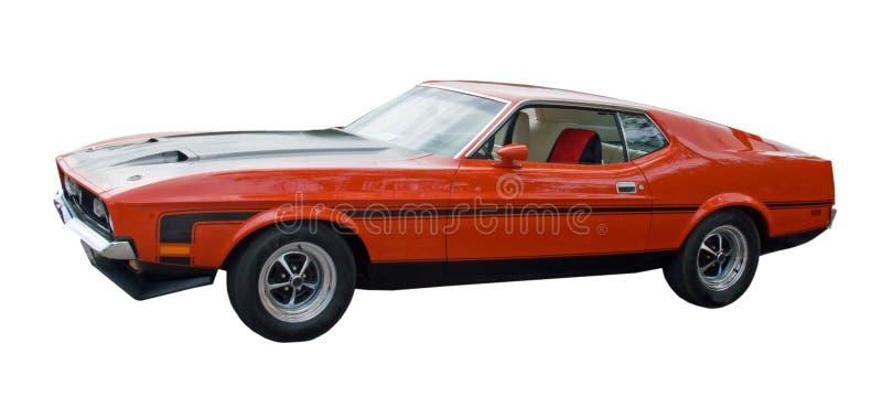 Automobile americana rossa del muscolo immagine stock