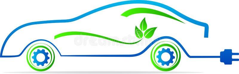 Automobile amichevole di Eco illustrazione di stock