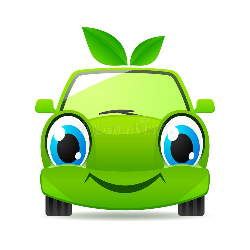 Automobile amichevole di Eco. Icona di vettore illustrazione vettoriale