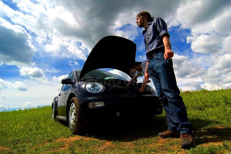 Automobile analizzata immagini stock