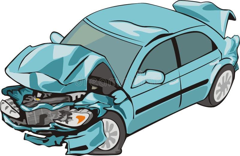 Automobile anteriore e posteriore di arresto royalty illustrazione gratis