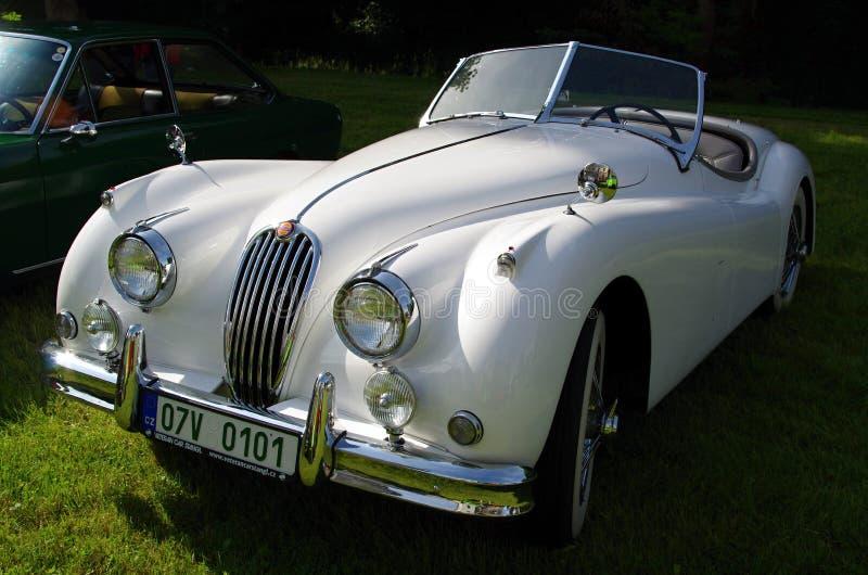 Automobile antica Jaguar fotografia stock