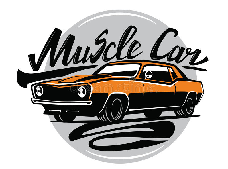 Automobile arancio del muscolo di vettore illustrazione di stock
