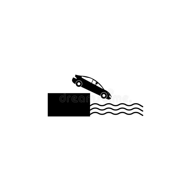 automobile, arresto, icona dell'acqua Elemento dell'incidente stradale e dell'icona di parcheggio per i apps mobili di web e di c royalty illustrazione gratis