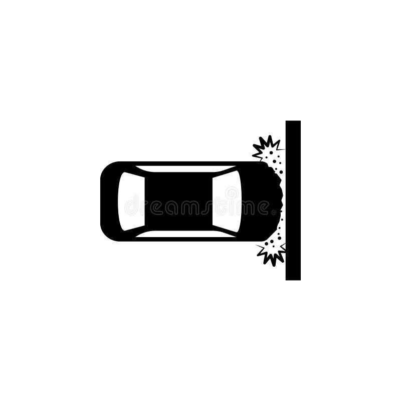 automobile, arresto, icona della parete Elemento dell'incidente stradale e dell'icona di parcheggio per i apps mobili di web e di illustrazione vettoriale