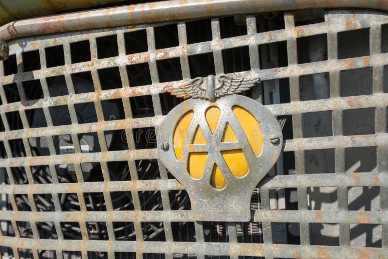Automobile Association badge royaltyfria bilder