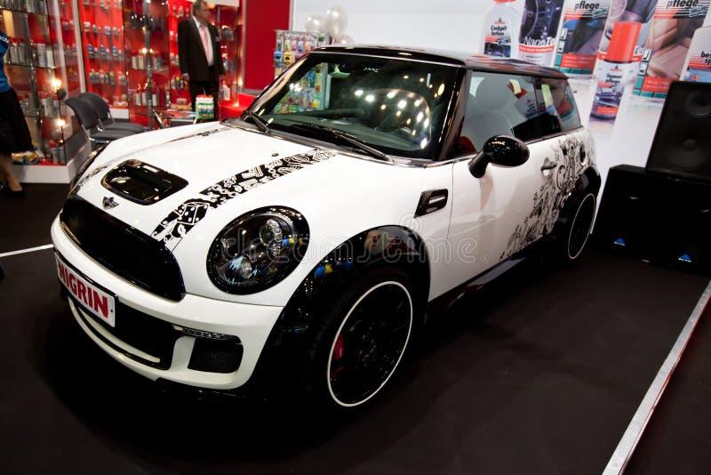 Automobile bianca Mini Cooper fotografia stock libera da diritti