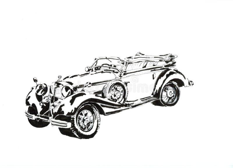 Automobile in bianco e nero fotografia stock
